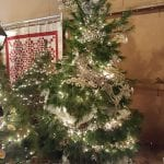 Yanas tree decorated with white lights and decorations