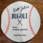 Another kind of menu that was used was this cardstock baseball shaped menu.