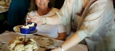 lady serving tea