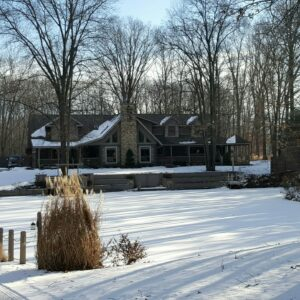 Mary helens house in snow