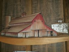 barn on shelf