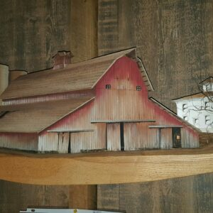 barn on shelf