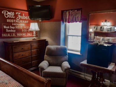 #2 The Major Leaguer room withrecliner and small fridge