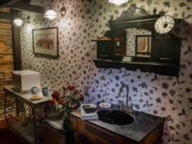 #6 The Red Carpet Room with vanity sink