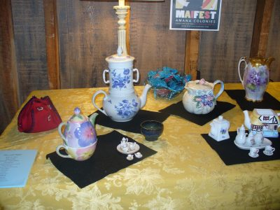 several teasets of various types and colors