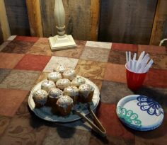 cupcakes with plates for serving