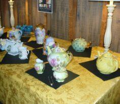 Various tea sets