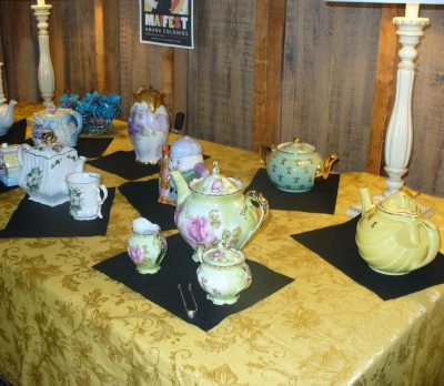 Various tea sets