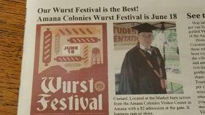 newspaper wurstfest