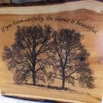 We purchased this at Woodfest. Love the thought!